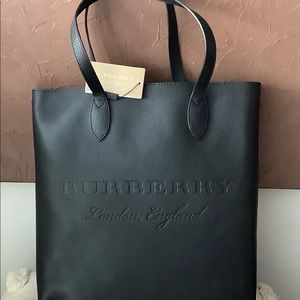 Burberry Remington Tall Embossed Leather Tote